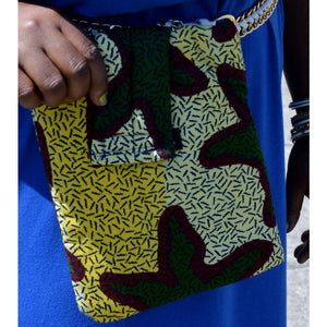 Green African Ankara print iPad Case - Zabba Designs African Clothing Store