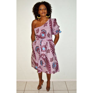 Miami Oversize Boho one Sleeve Dress - Zabba Designs African Clothing Store