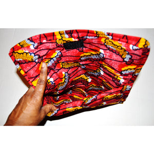 Red And Black Evening Clutch - Zabba Designs African Clothing Store