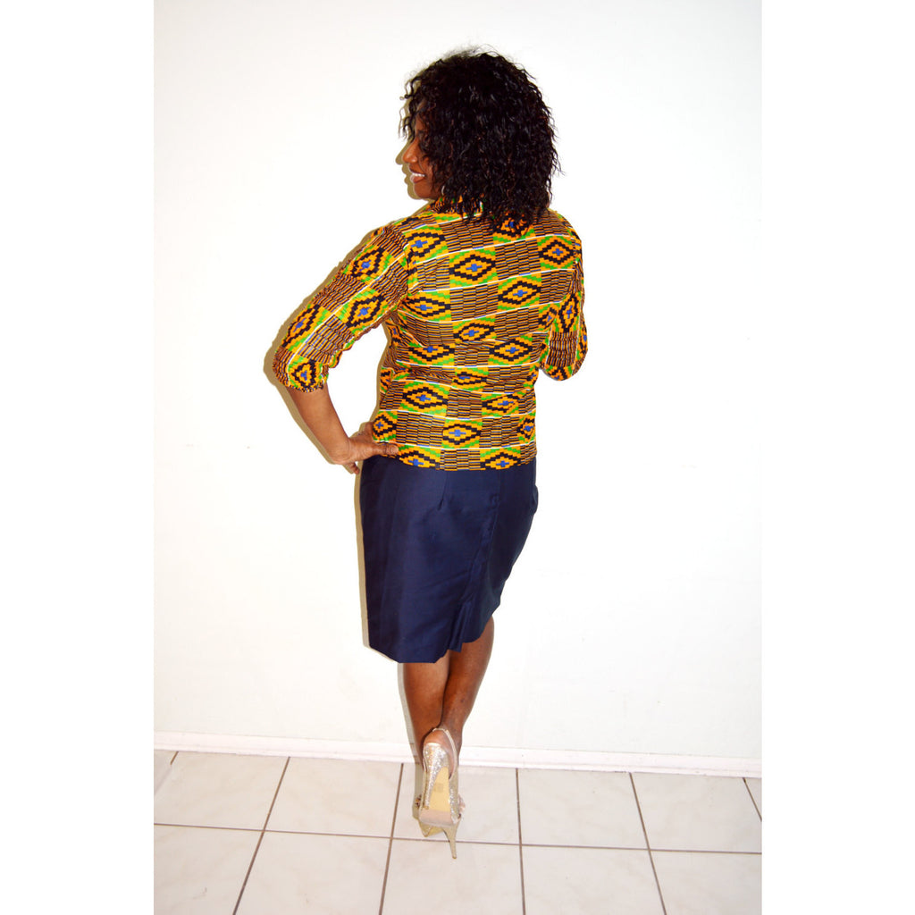 Ivyi African kente print Jacket - Zabba Designs African Clothing Store