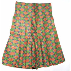 BROWN African Ankara Bias Cut Mini Skirt - Zabba Designs African Clothing Store