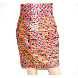 Pink Ankara Bias Cut Pencil Skirt - Zabba Designs African Clothing Store