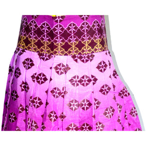 Purple African Ankara print High Waist Mini Skirt - Zabba Designs African Clothing Store