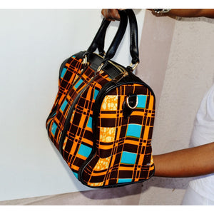 Brown Large African Inspired Tote Bag - Zabba Designs African Clothing Store