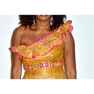 Jee African Inspired One Shoulder Dress - Zabba Designs African Clothing Store