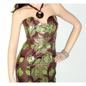 Strapless Green Maxi Dress - Zabba Designs African Clothing Store  - 2