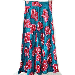 The ETANA Long Green Maxi Skirt - Zabba Designs African Clothing Store