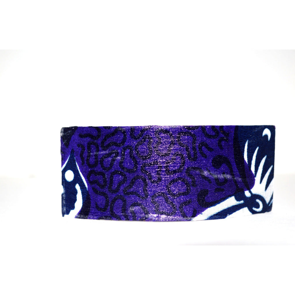 Purple African Ankara Print Hair Bow - Zabba Designs African Clothing Store