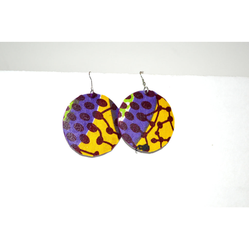 Tribal Earrings African Earrings Round Earrings - Zabba Designs African Clothing Store