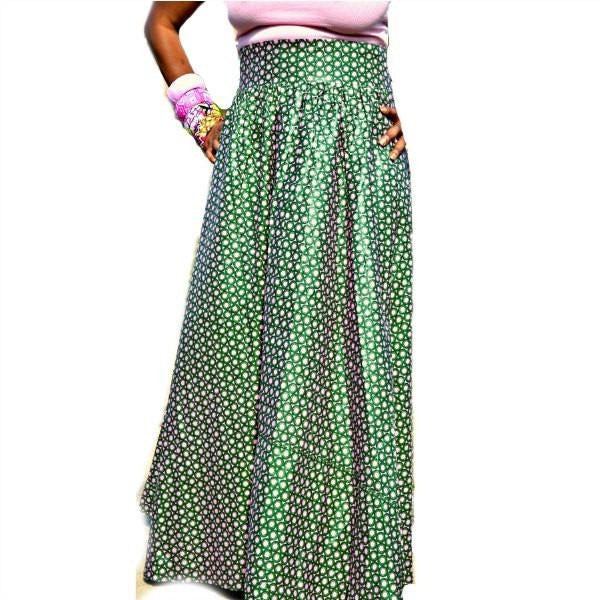 Charmin Romantic Maxi Skirt - Zabba Designs African Clothing Store