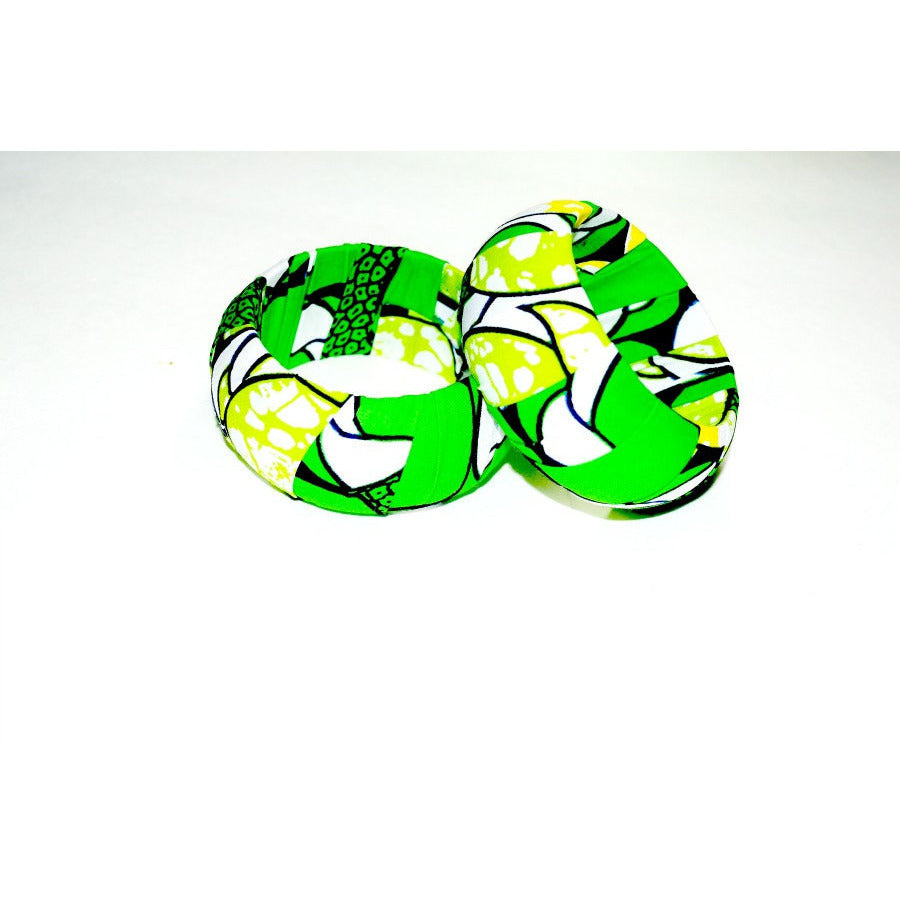 Designer Wood Bangles Green - Zabba Designs African Clothing Store