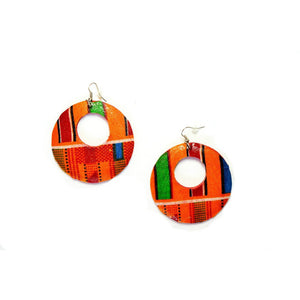 Ghana Kente Print Earrings - Zabba Designs African Clothing Store
