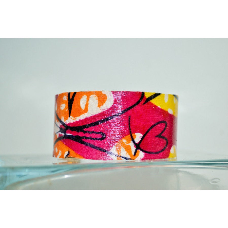 Floral Cuff Bracelet Vintage Flowers Cuff Bracelet - Zabba Designs African Clothing Store