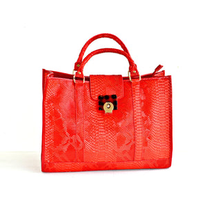 Red Purse Red Tote Handbag - Zabba Designs African Clothing Store