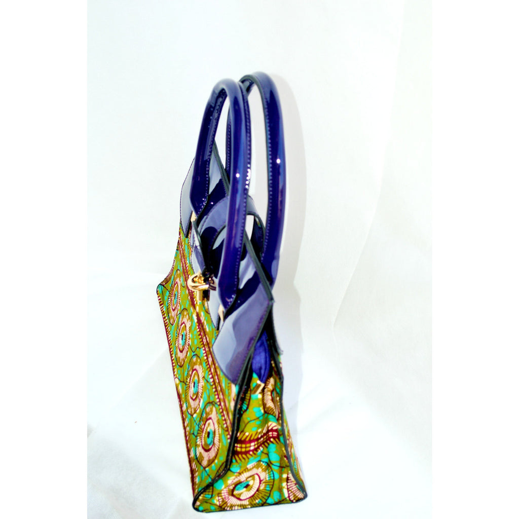African Wax Print Top HandleTote Bag - Zabba Designs African Clothing Store