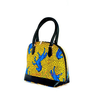 Momo Yellow African Print Satchel Bag - Zabba Designs African Clothing Store