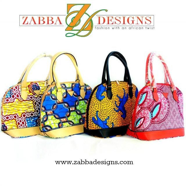 Yellow African Print Tote Bag - Zabba Designs African Clothing Store