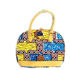 Cello Yellow African Print Tote Bag - Zabba Designs African Clothing Store