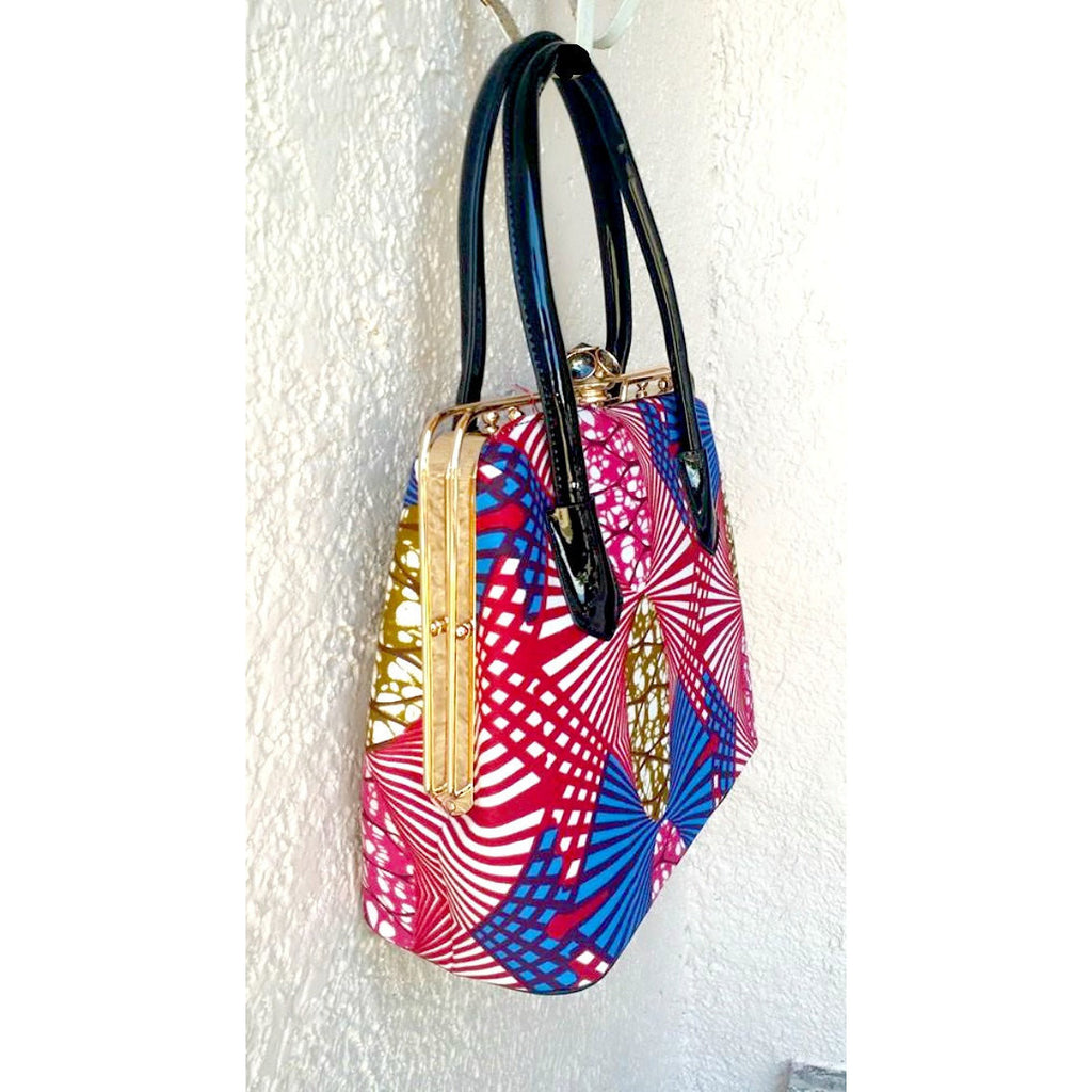Red African Print Bag - Zabba Designs African Clothing Store