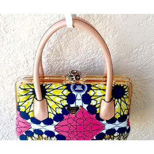 DESIGNER TOP HANDLE BAG pink - Zabba Designs African Clothing Store