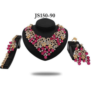 TERRI STATEMENT CRYSTAL COLLAR NECKLACE - Zabba Designs African Clothing Store