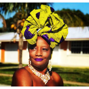 The Mackie  African Ankara Print Head Wrap - Zabba Designs African Clothing Store