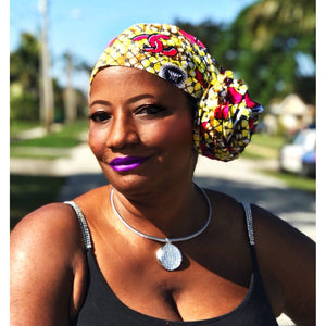 The Cape African Print  HeadWrap - Zabba Designs African Clothing Store