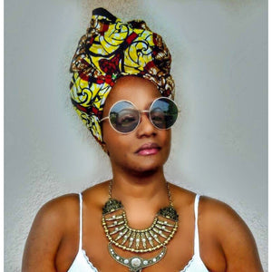 Yellow Amani Ankara Print Headwrap