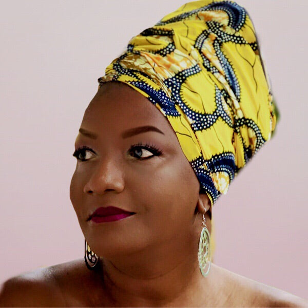African Print Kikyo Bellflower HeadWrap - Zabba Designs African Clothing Store