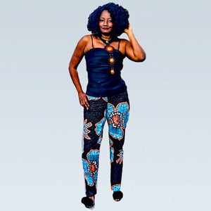 Star Lite African Print Skinny-Leg Pants - Zabba Designs African Clothing Store