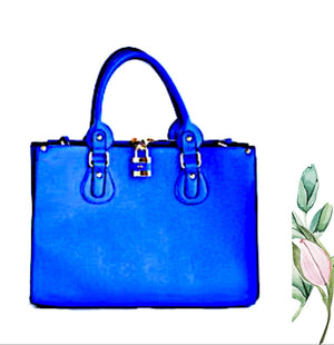 Trendy Designer Fashion Handbag Blue