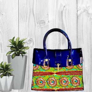 GOGO African Wax Print Top Handle Tote Bag - Zabba Designs African Clothing Store
