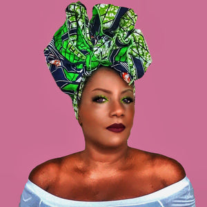 FOLI Traditional Print Headwrap - Zabba Designs African Clothing Store