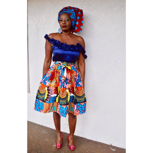 Nyla African Print  HeadWrap - Zabba Designs African Clothing Store