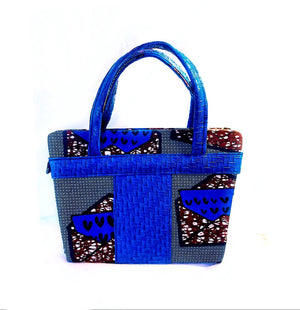Durban AfricanMade Handbag  Blue - Zabba Designs African Clothing Store