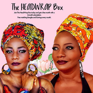 CALLA LILY Head Wrap - Zabba Designs African Clothing Store