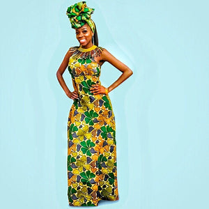Koko African  Maxi Dress - Zabba Designs African Clothing Store