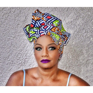 FATU Traditional African Print Headwrap - Zabba Designs African Clothing Store