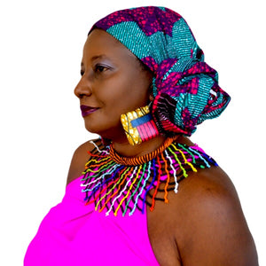 Barbie African Print HeadWrap - Zabba Designs African Clothing Store