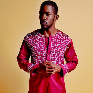 Eniola African Print Men's Suit - Zabba Designs African Clothing Store