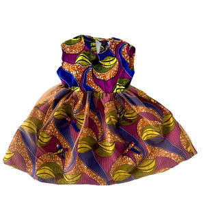 Kaylin African Print Girl's Dress - Zabba Designs African Clothing Store