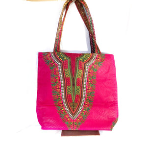 Dashiki African Print Tote Bag - Zabba Designs African Clothing Store
