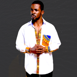 White Long Sleeve Dashiki  Men's Shirt - Zabba Designs African Clothing Store