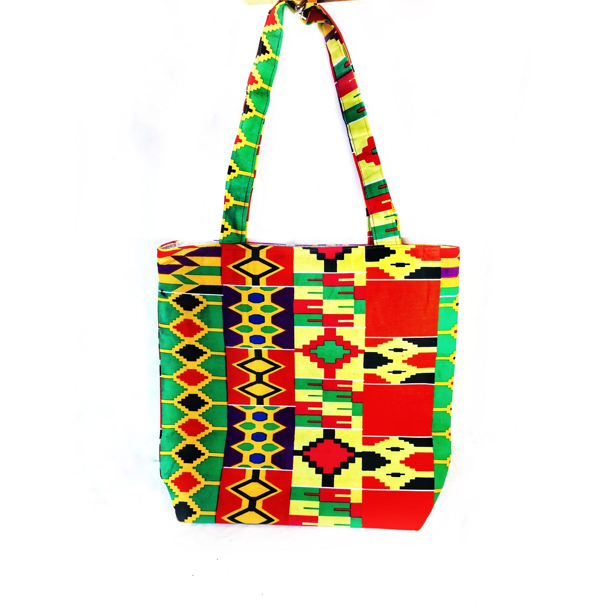 5853ed09984d The Mandela Kente Tote Bag - Zabba Designs African Clothing Store