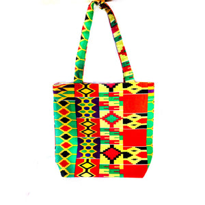 The Mandela Kente Tote Bag - Zabba Designs African Clothing Store
