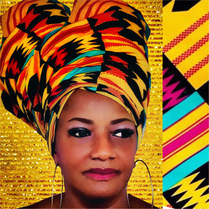 BELLE African Print HeadWrap - Zabba Designs African Clothing Store