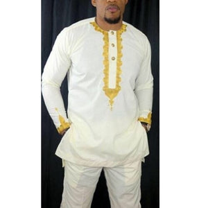 Ayo Traditional African Print Men's Two Piece Suit - Zabba Designs African Clothing Store
