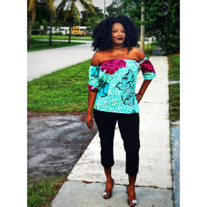 Kawanda Off Shoulder Top - Zabba Designs African Clothing Store