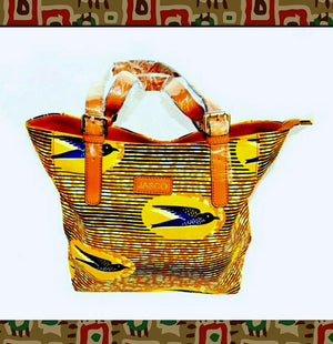 Textured African  Buckle Top Handle Satchel - Zabba Designs African Clothing Store