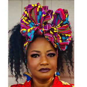 MONA Headwrap, African Print Head Wrap